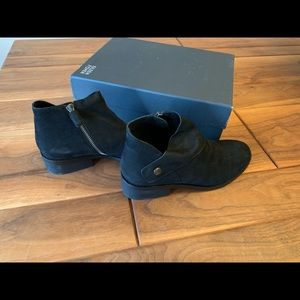Eileen Fisher Black Nubuck Booties - 7.5